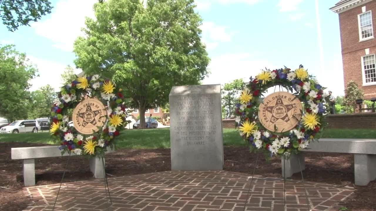 Ceremony remembers fallen Delaware officers