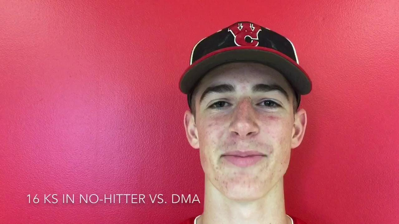 Wilmington Christian pitcher throws no-hitter vs. DMA, strikes out 52 in final three starts