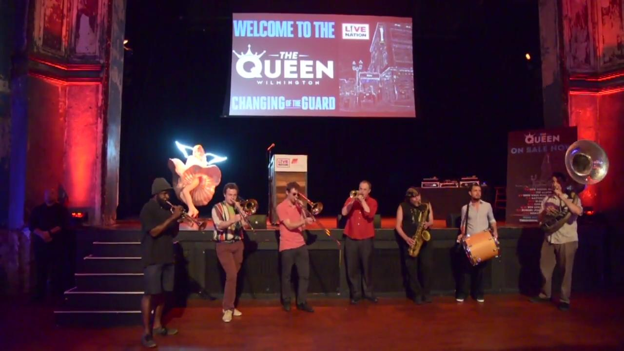 In June, Live Nation officially landed at The Queen with a press event, taking over for World Cafe Live.