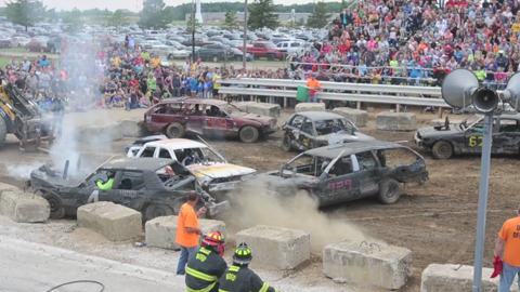 Demolition Derby at the Ottawa County Fair on Friday, July 18, 2014.