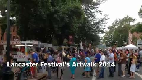 Lancaster Festival's Artwalk featured artists in downtown Lancaster for the evening.