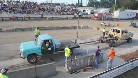 Tug-A-Truck contest at the Ottawa County Fair on Thursday, July 17, 2014.