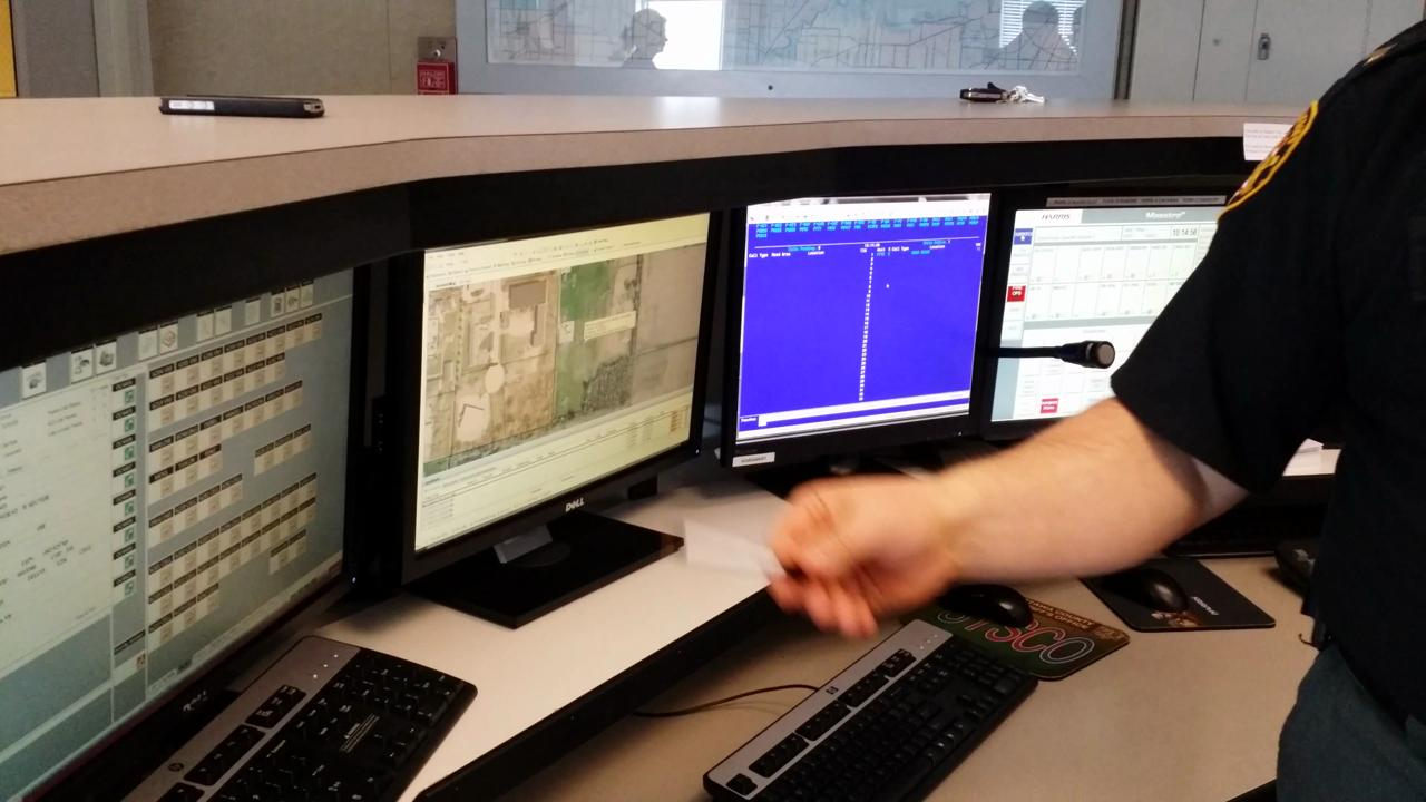 Dispatch takes 911 call and traces location