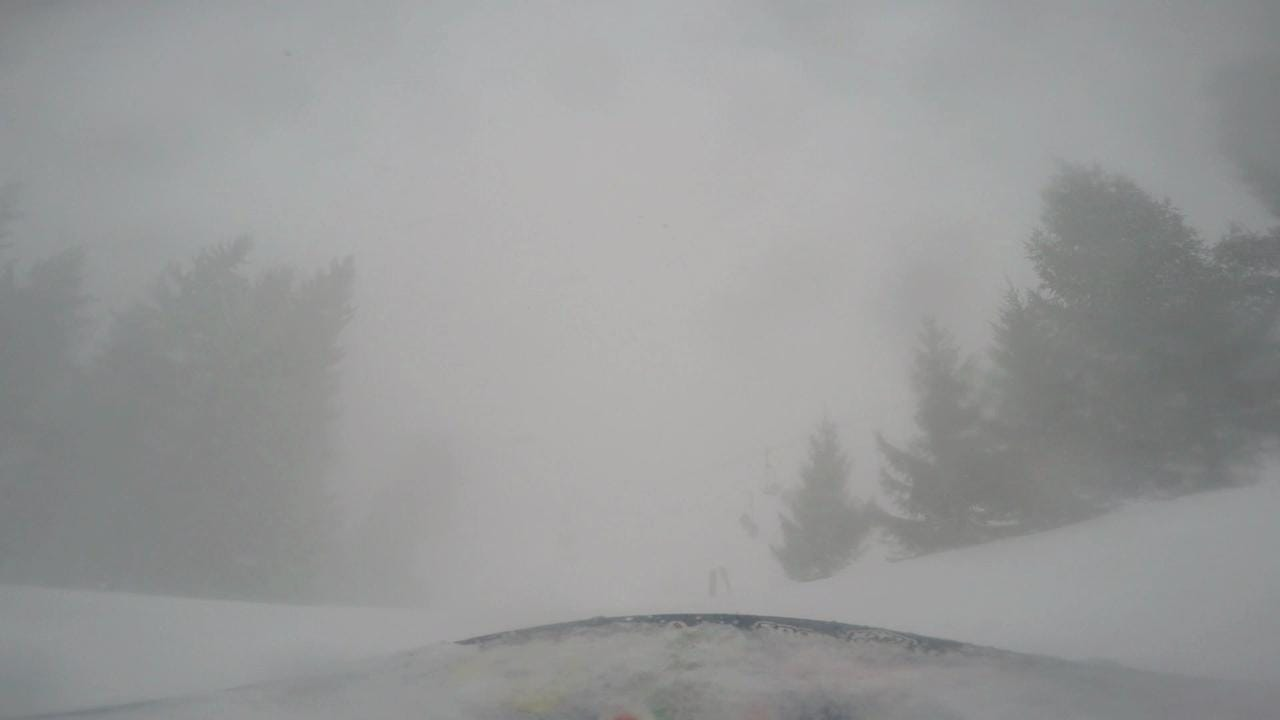 Snow Trails and Whiteout Winter Squall