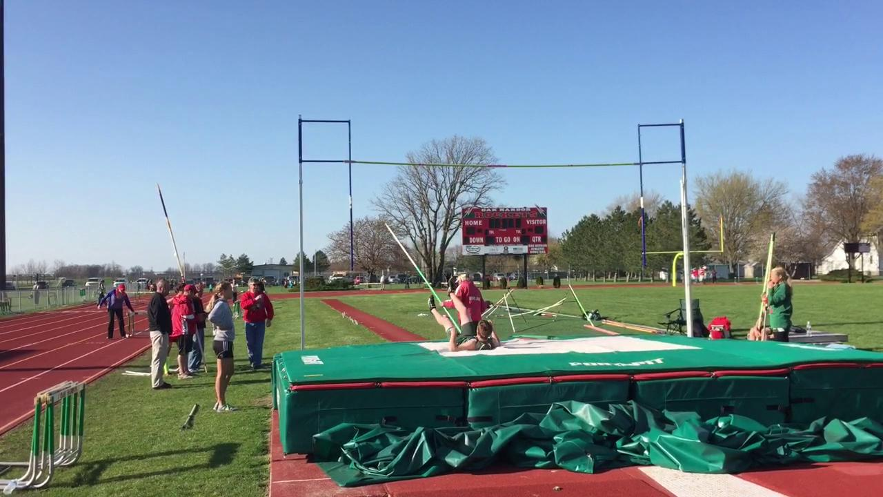 Footage from Oak Harbor's home meet Tuesday.
