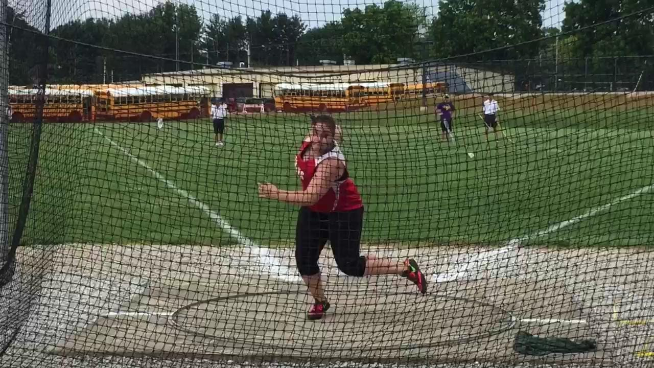 Footage from Lexington, including the throw that qualified Port Clinton's Morrisa Mallory to state in the discus Saturday.