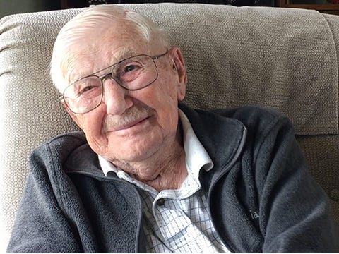 Donald Clay of Oak Harbor, 100 Years Old