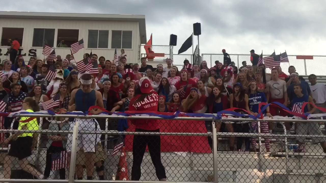 Ridgewood student section in Week 3 Battle of the Student Section