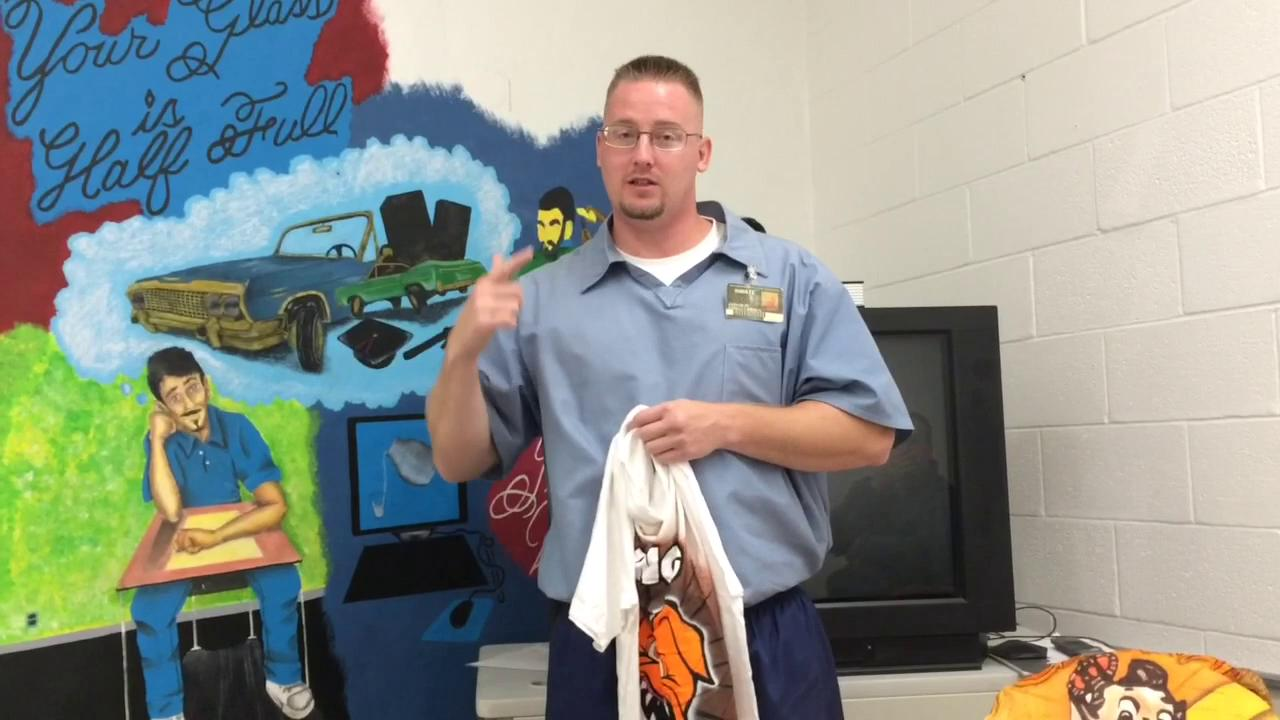 Donnie Inman, of Chillicothe, shares how doing art in prison has helped him.