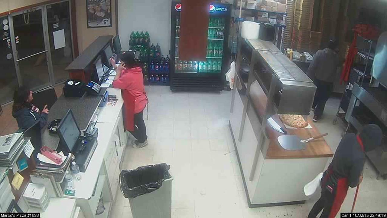 A Port Clinton woman is facing charges after entering a pizza store to address a problem with an order and allegedly assaulting an employee with a napkin dispenser.