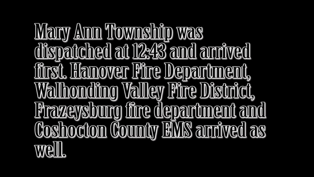 A house at 16636 Pike Township on Township road 475 was engulfed in flames Friday afternoon.