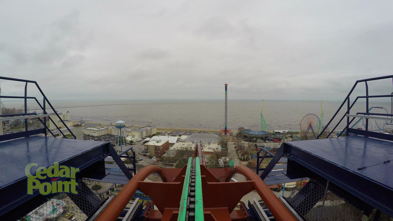 "Cedar Point debuted its new dive coaster ""Valravn"" on Wednesday."