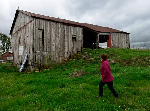 Rebecca McDermott wants to renovate the barn she says is historic on Route 20 in Gibsonburg.