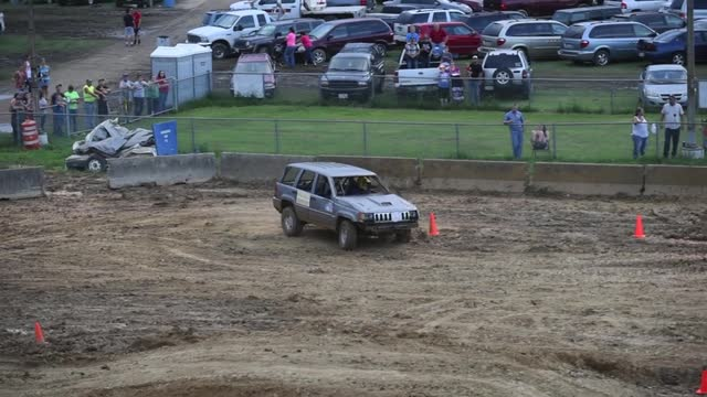 Highlights from the stock class during the Rough Truck competition at the Muskingum County Fair on Monday. Note: audio is loud