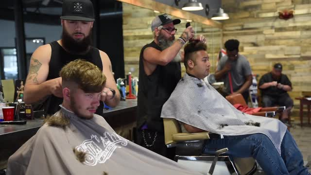 Nathan's Barbershop in Marion, Ohio, has moved locations. Nathan himself gives some of his thoughts on his shop and his customers.