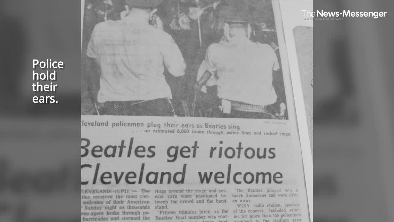Ohio author Dave Schwensen discussed The Beatles 1964 and 1966 concerts in Cleveland in a presentation at Birchard Public Library on April 26, 2017. http://ohne.ws/2qdpvTI