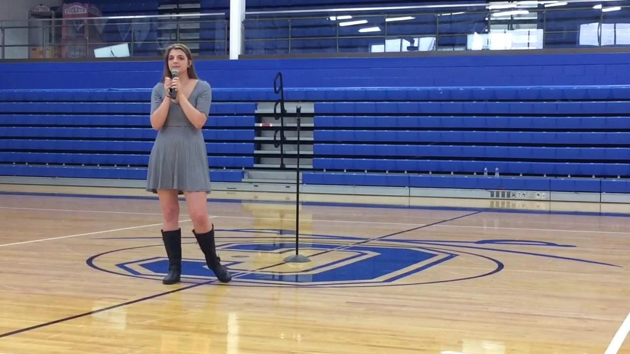 CHS sophomore Marlee Brown talks about the death of her sister Layken during a mock crash assembly.
