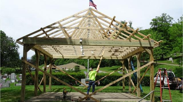 Lancaster has built a shelter house at Forest Rose Cemetery that will be used during the annual Memorial Day service.