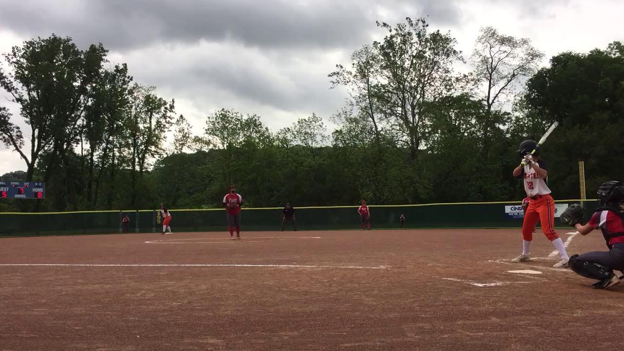 Kalesie Henderson snags a deep center field catch during a D-III Regional Semifinal
