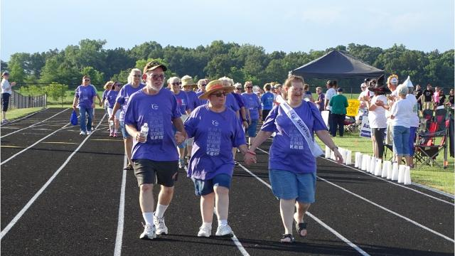 Hundreds of community members walked the track at River Valley high School Friday for Relay For Life of Marion County. The event honored cancer survivors and caregivers and served as an opportunity to raise money for cancer research and to remember lives lost to the disease.