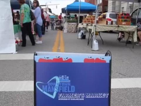The downtown Mansfield Farmers Market is open from 10 a.m. to 1 p.m. every Friday on Fourth Street in the Carrousel district of town.