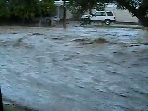 Sept  8 flooding: Thousand Palms road roars like river