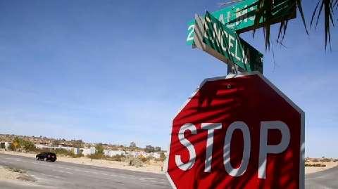 Aluminum JOSHUA TREE CALIFORNIA  City Limit Sign