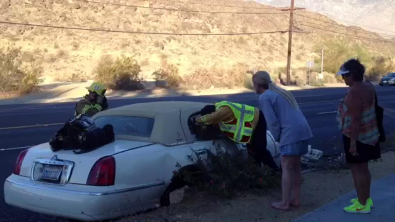 Palm Springs Collision Injures Two Men A Dog