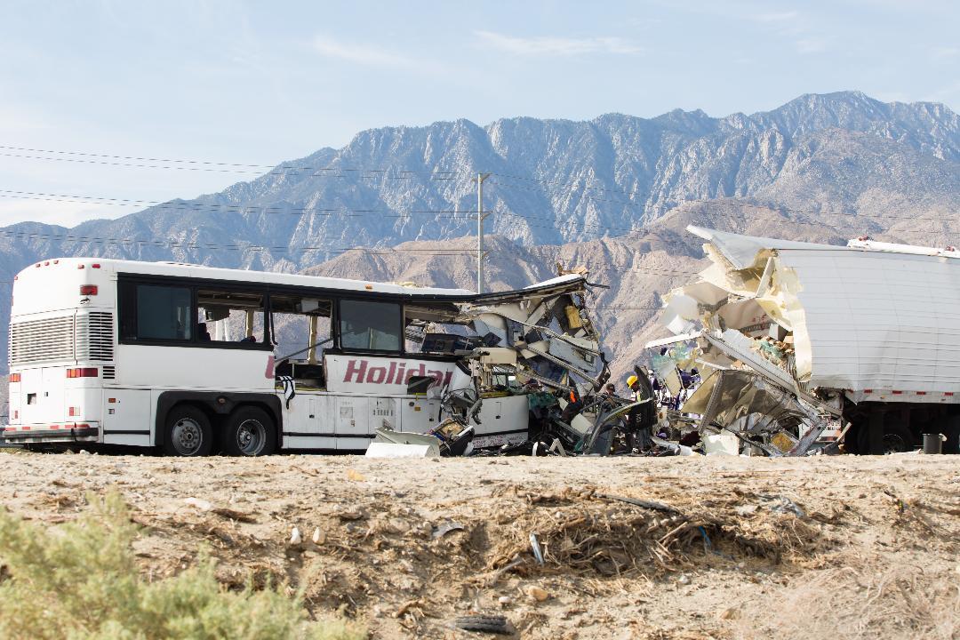 Video: Bus Crash near Palm Springs Kills 13