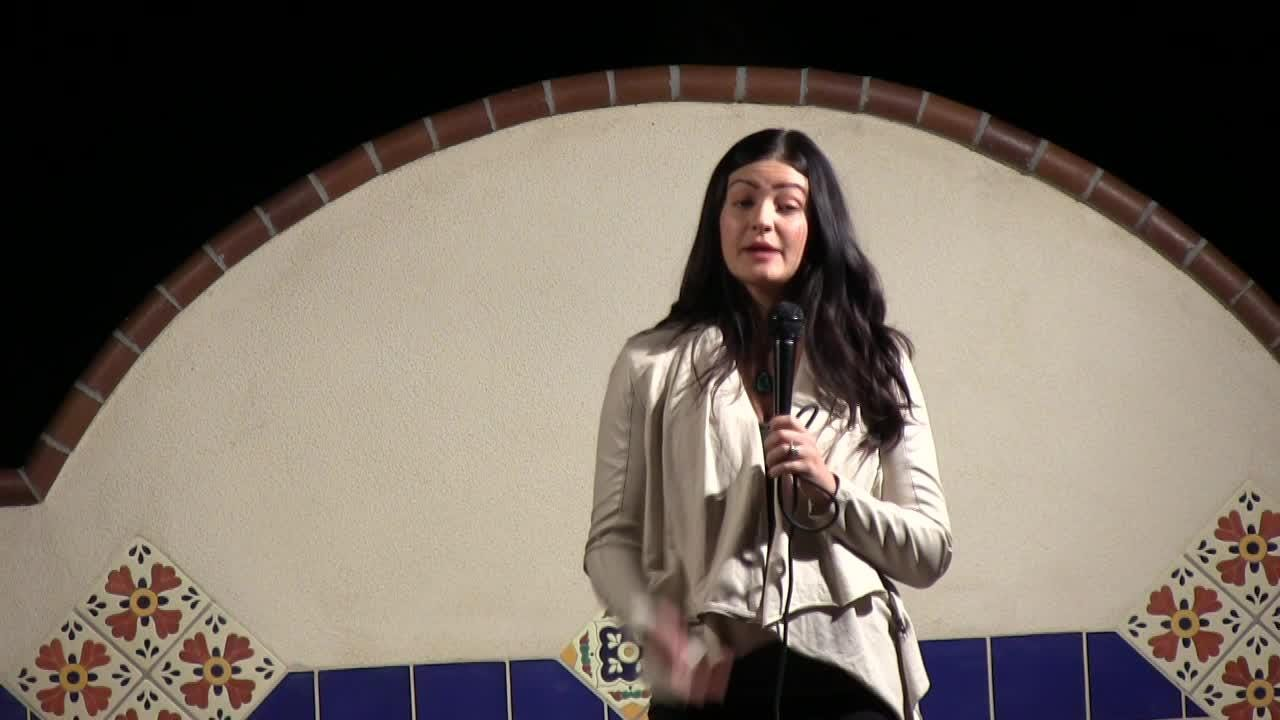 Lanelle Gradilla tells her story at Coachella Valley Storytellers Project