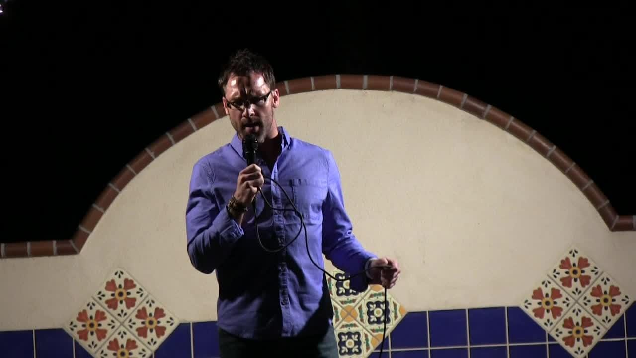Andrew Schultz tells at Coachella Valley Storytellers Project
