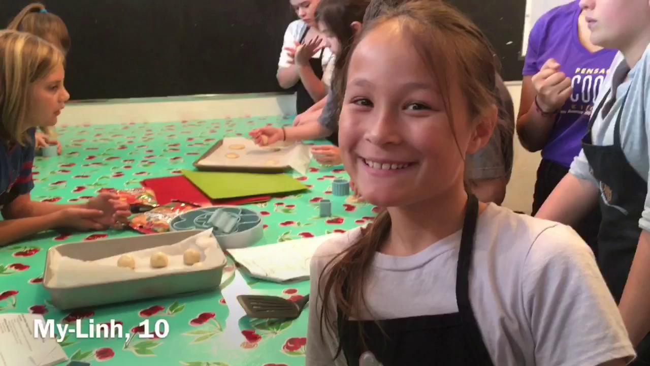 Watch: Summer cooking camp kicks off
