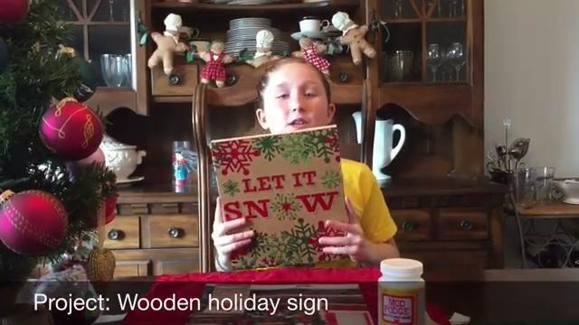 12 Days to Christmas: wooden holiday sign