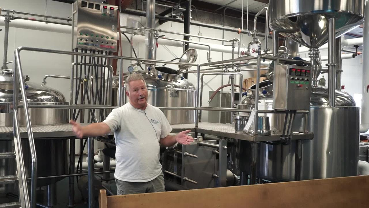 Take a tour through Gulf Coast Brewery's brewing process