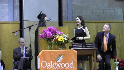 Oakwood Friends School graduates 31