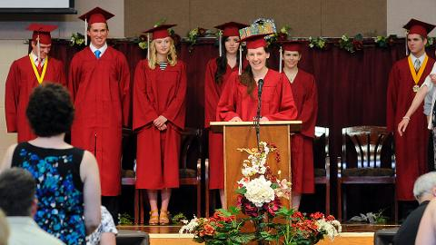 Upton Lake Christian School students graduate