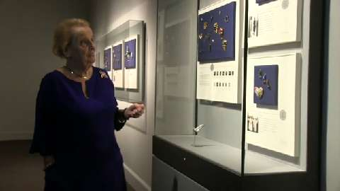 Secretary Albright's pins have a point