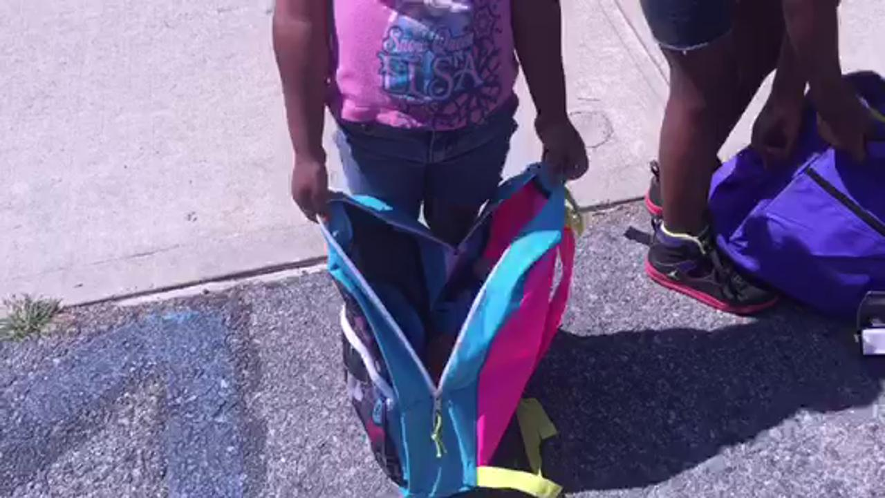 Local children get free backpacks