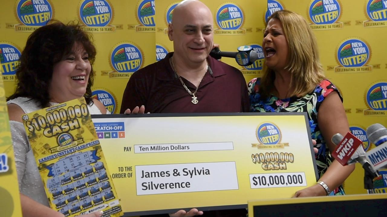 Local lotto winners awarded check at Poughkeepsie Stewart's Shop