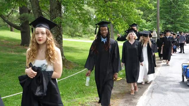 Bard College celebrates their 157th Commencement, May 27, 2017, at their college in Annandale-on-Hudson.