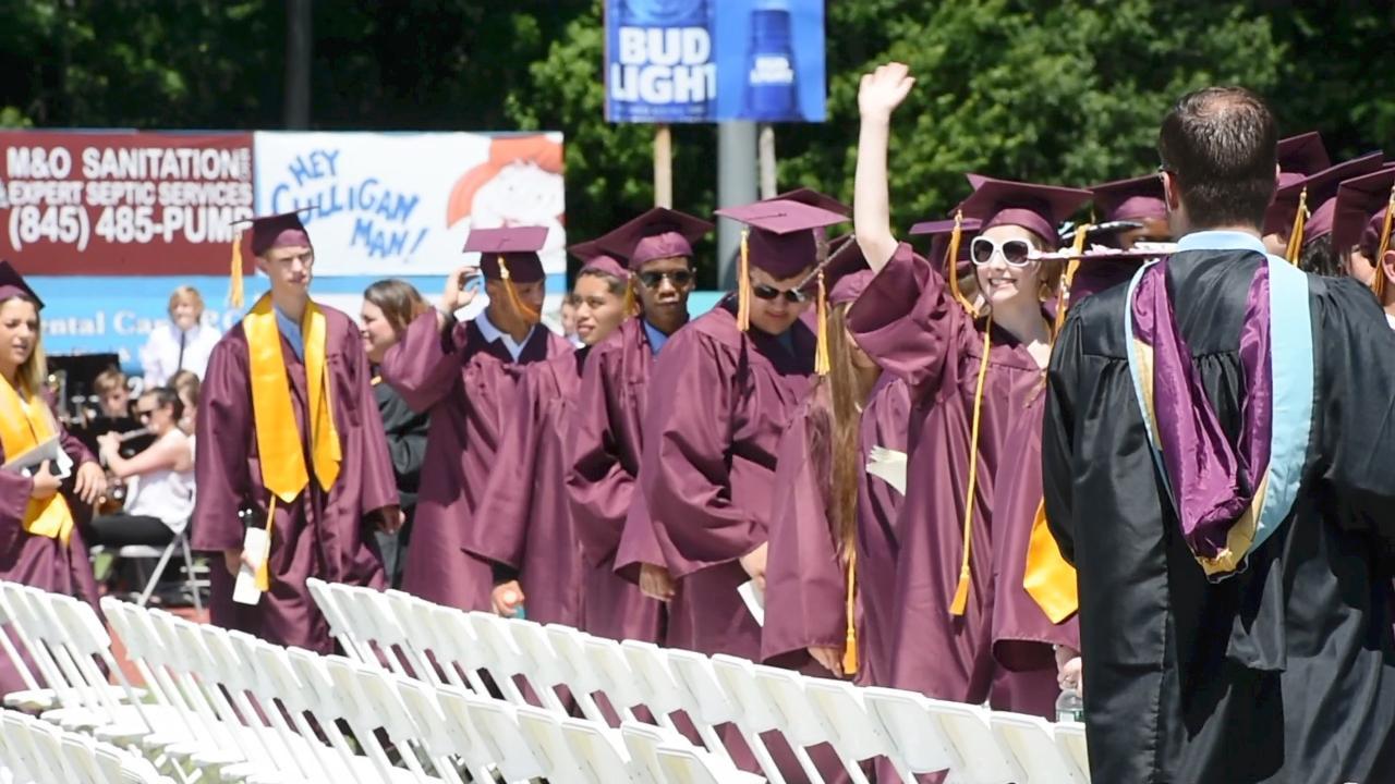 A view of Arlington High School's graduation.