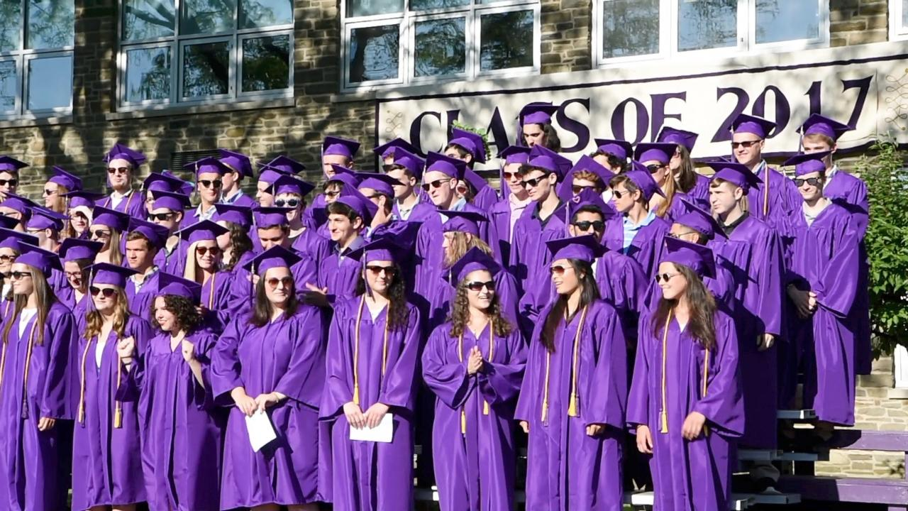 A view of Rhinebeck High School's graduation.