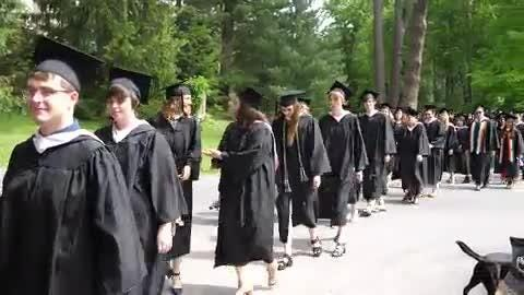Vassar College held its 153rd commencement ceremony at the college in Poughkeepsie, May 28, 2017.  Video by Adam McIe for The Poughkeepsie Journal.