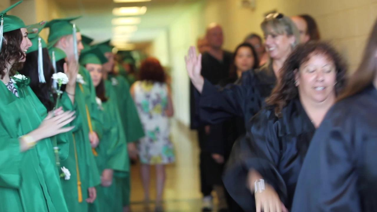 Webutuck High School Class of 2017 celebrates their commencement ceremony at the school in Amenia, June 24, 2017. Video by Michael Giacalone/For the Poughkeepsie Journal.