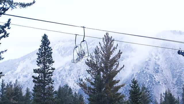 Early 2016-17 season snowfall at Mt. Rose-Ski Tahoe, September 2016.