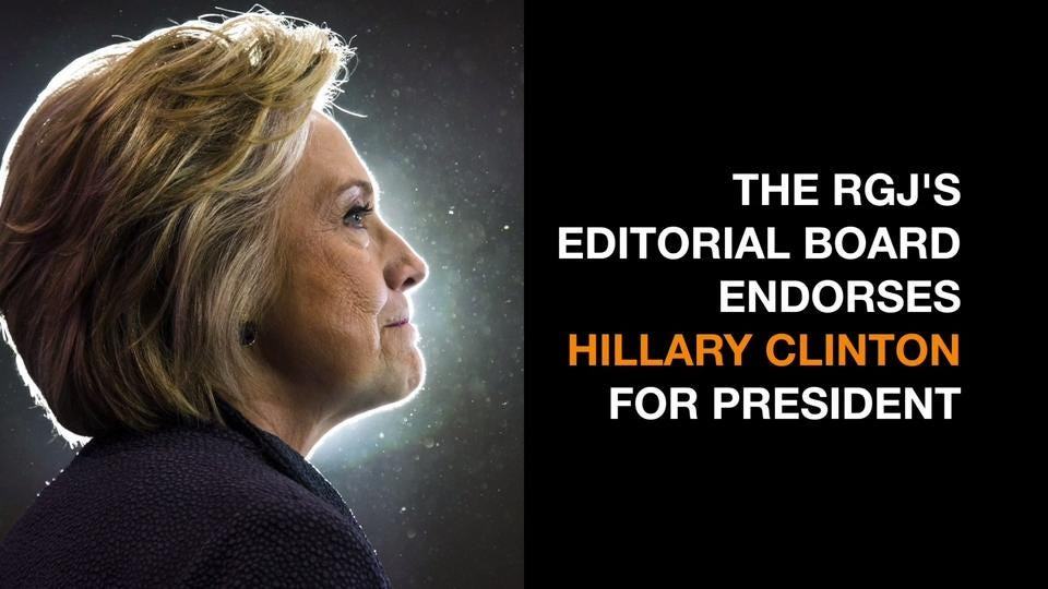 The editorial board agreed that she's more likely to address the concerns of Americans.