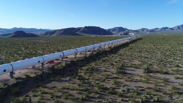 Sin City to Biggest Little City in 42 minutes? Chicago to Pittsburgh in 45 minutes? That's what might be in store for the future if hyperloop transport literally takes off. Here's a look at the completed Hyperloop One Las Vegas DevLoop test site.