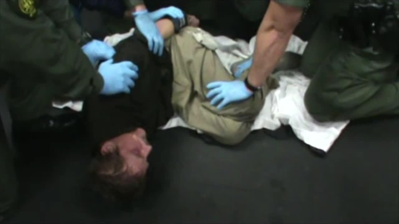 Raw footage: The struggle at the jail that led to Thomas Purdy's death