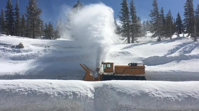 Images from Mt. Rose Highway and the snowpack survey on April 10, 2017.