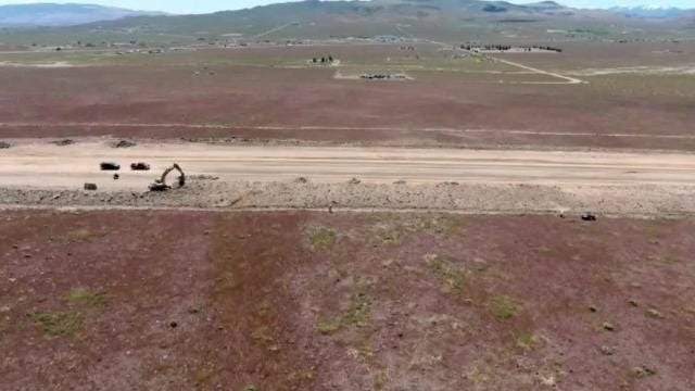 The 12-mile, $76 million USA Parkway extension project is getting closer to completion. Ames Construction, the contractor working on the Nevada Department of Transportation project, says the road that will connect the I-80 to U.S. 50 should be done by the end of the year. Ames Construction provided the aerial footage for this video.